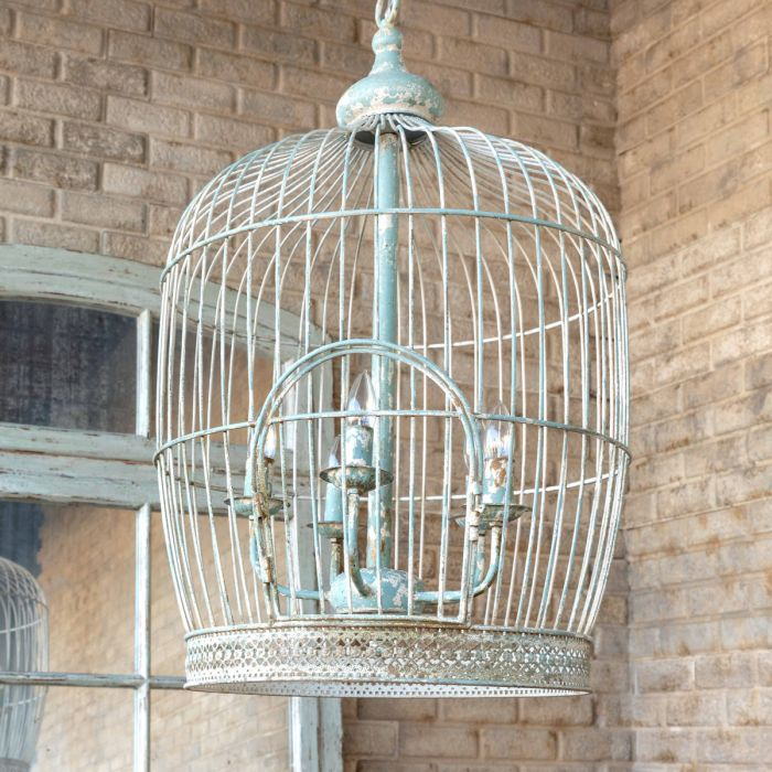 Vintage-Style Birdcage Chandelier
