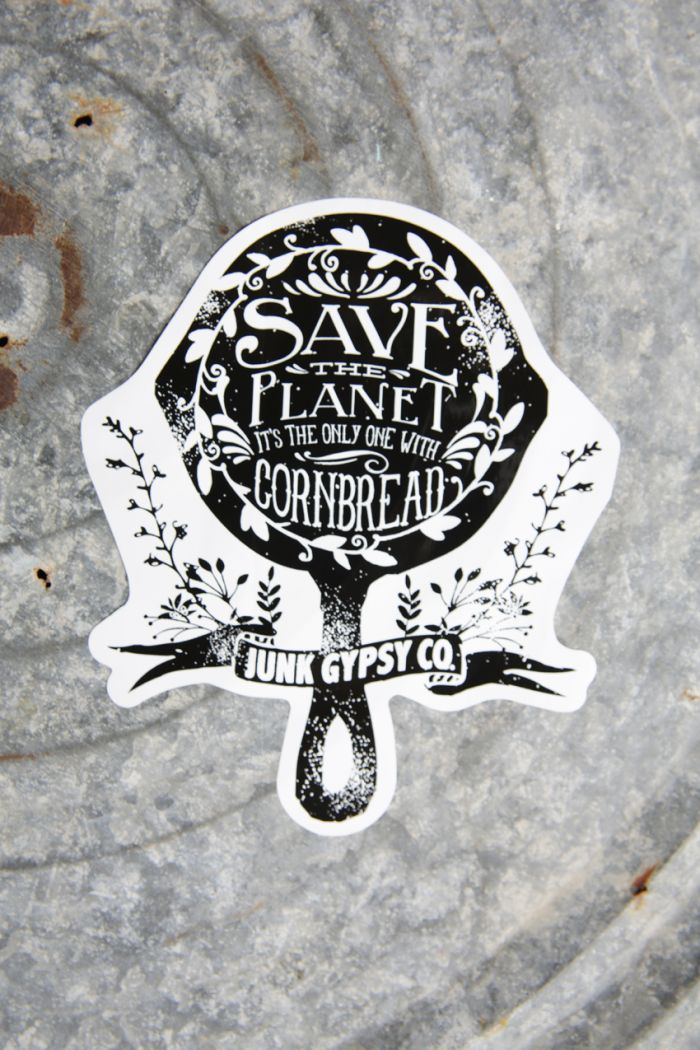 save the planet-it's the only one with cornbread sticker!
