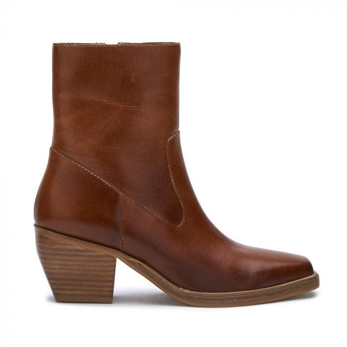 ezra leather bootie
