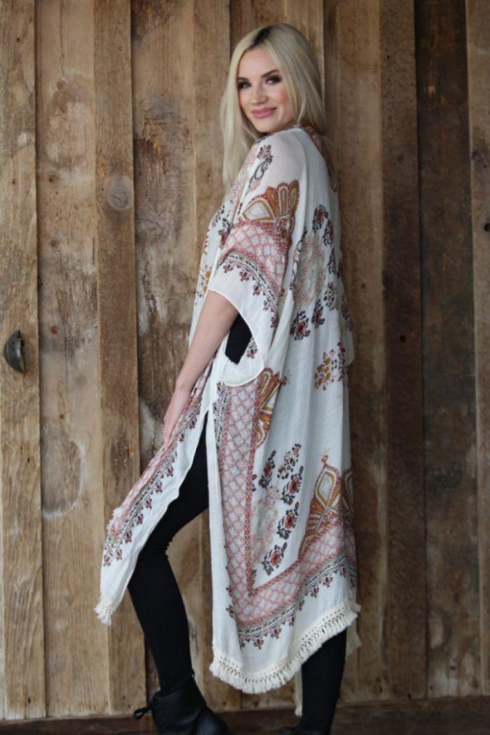 daydream believer lace trim kimono