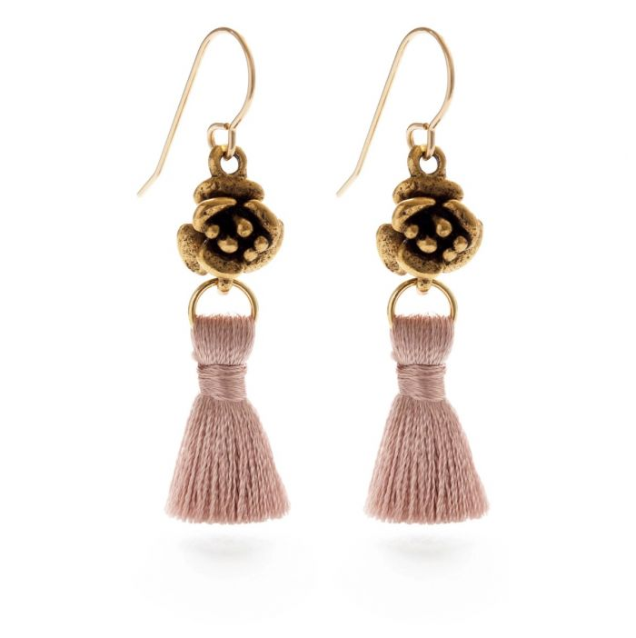 tassel & flor earrings — available in different colors!