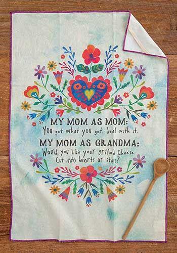 mom as grandma dish towel