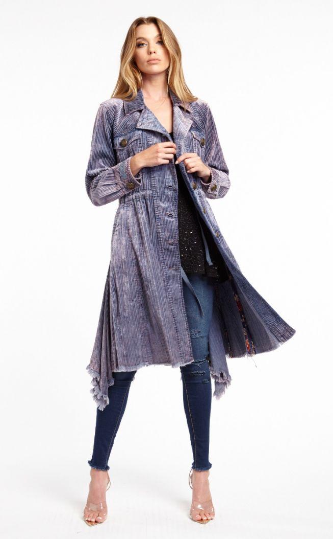 leoni corduroy trench coat