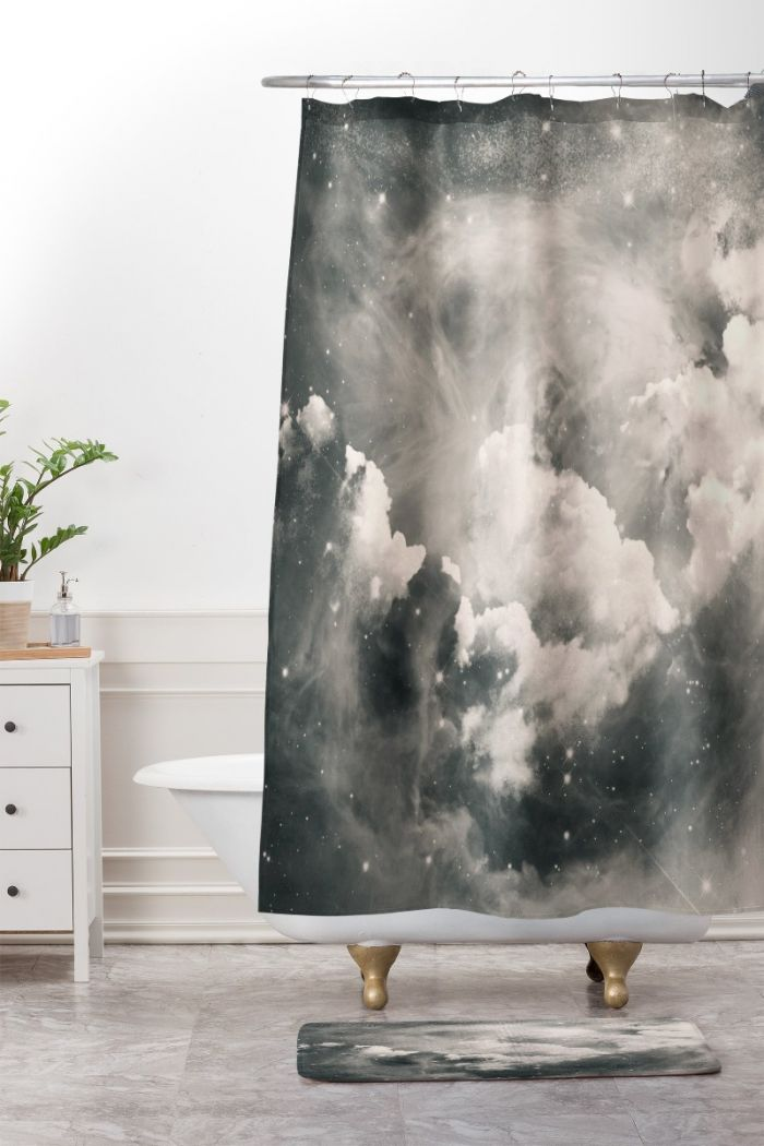 find me among the stars shower curtain & mat