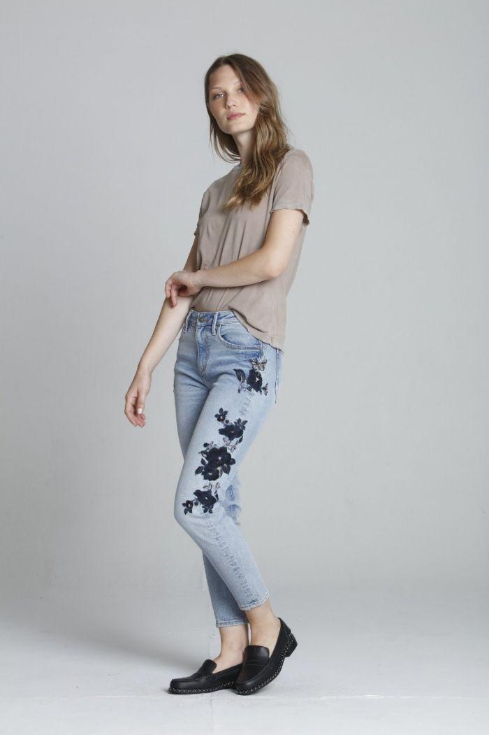 gizelle black rose jeans