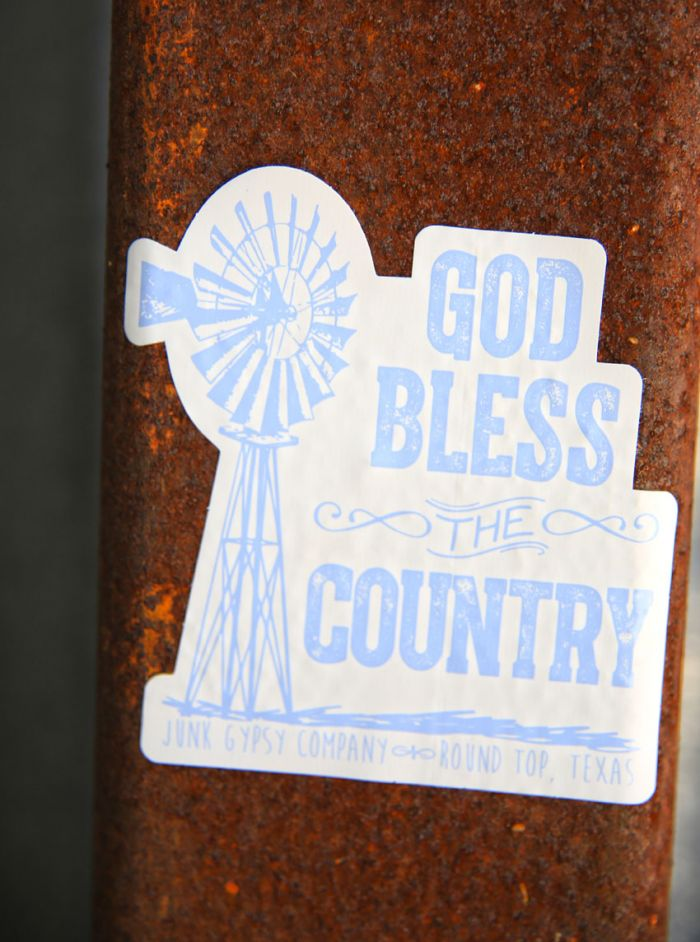 God bless the country bumper sticker