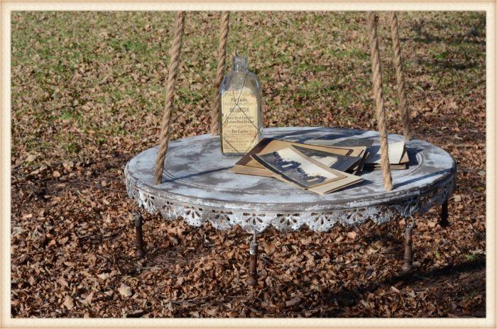 hanging metal table