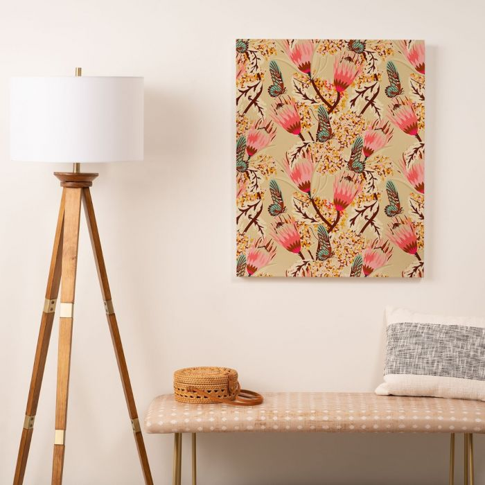 mademoiselle temple butterfly art canvas