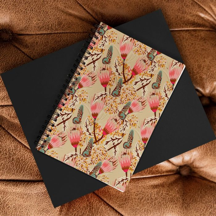 mademoiselle temple butterfly spiral notebook