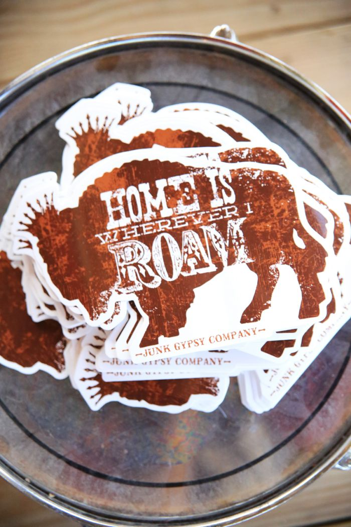 home is wherever i roam buffalo stickers