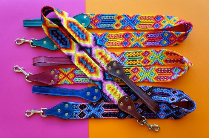 woven dog leash