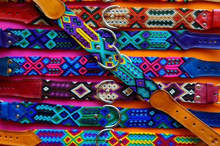 Leather Fiesta Dog Collar -- Medium Thick