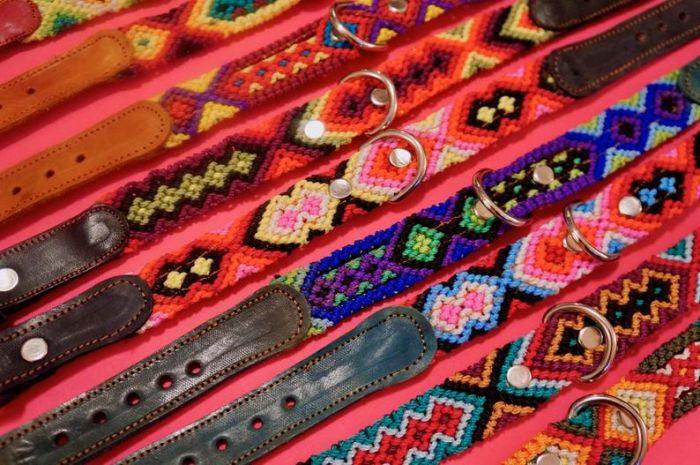 Leather Fiesta Dog Collar -- Small