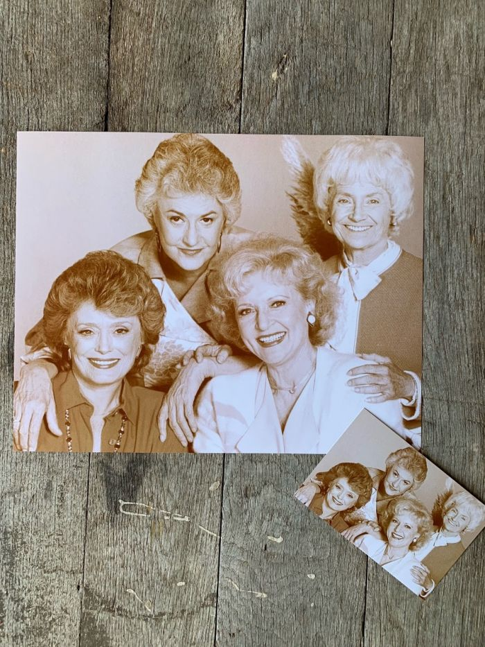 Sepia Golden Girls Group Print -- Available As A Poster Or Postcard!