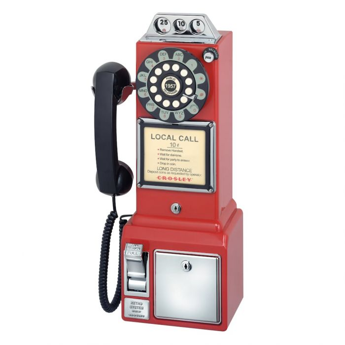 retro red payphone