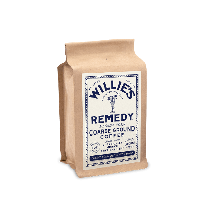 Willie's Remedy Medium Blend 8oz Ground Coffee