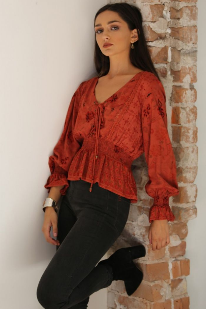 maribel long sleeve floral blouse