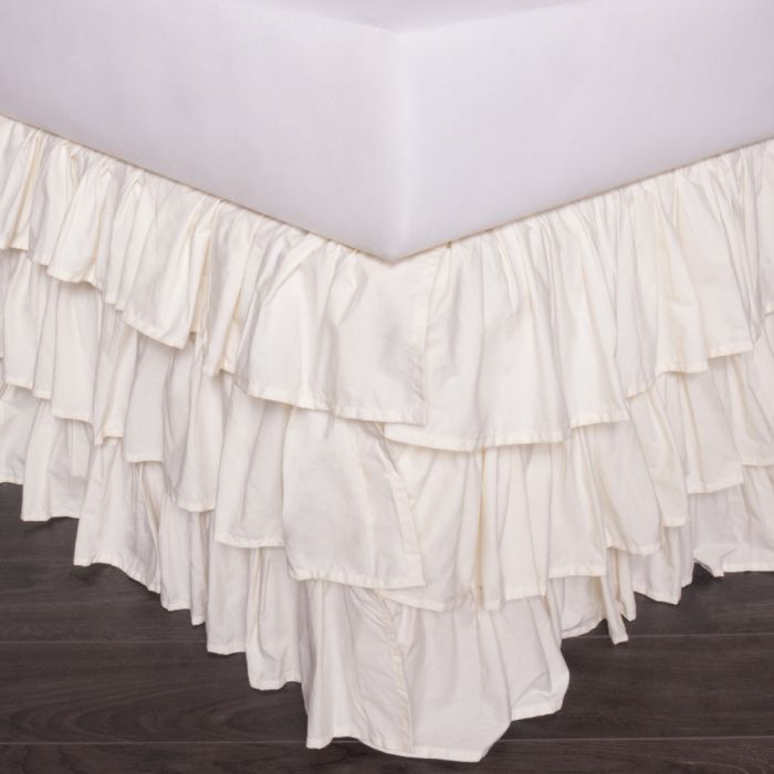 french ruffle bedskirt
