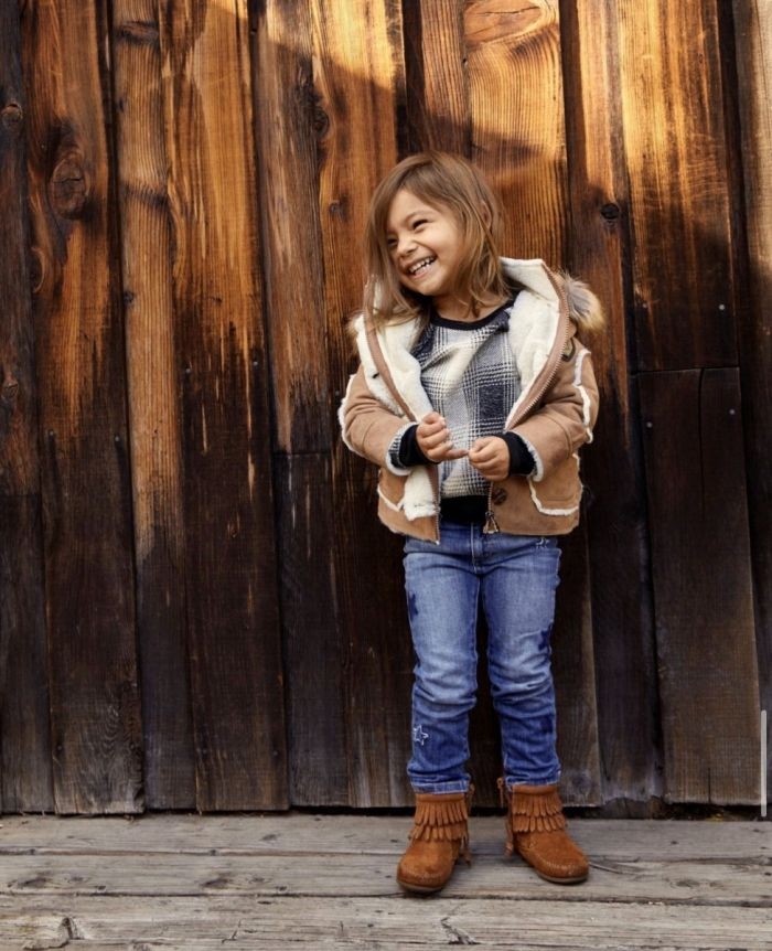 kid's double fringe side zip boot -- available in several colors!