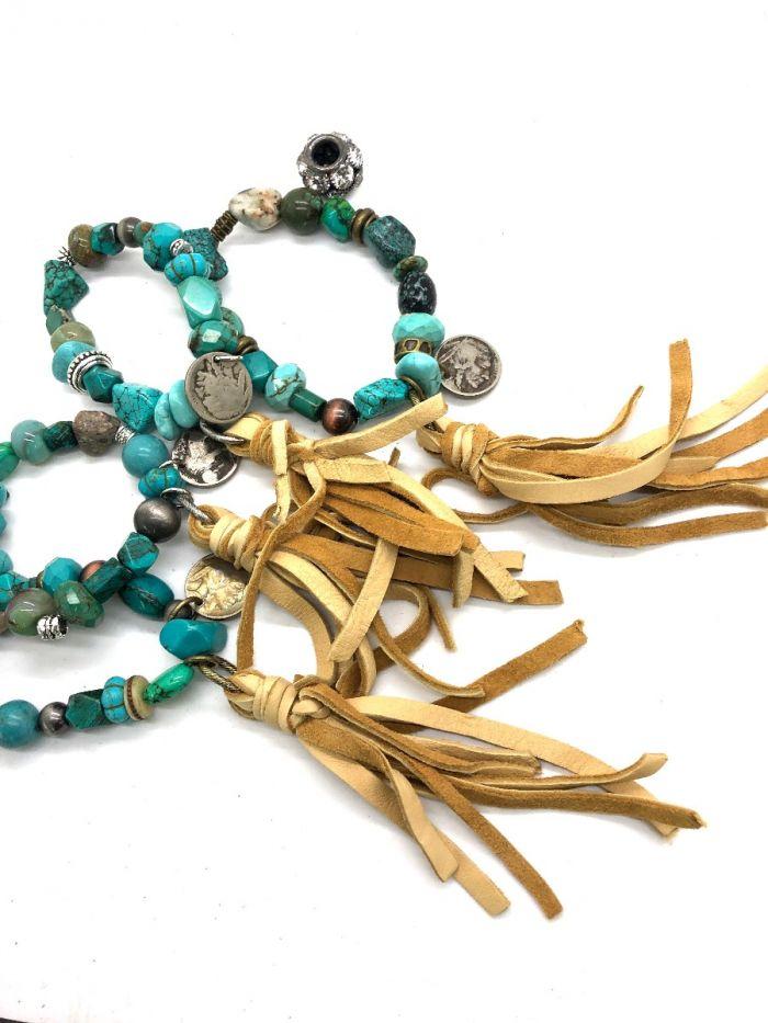 turquoise trail stretch bracelet