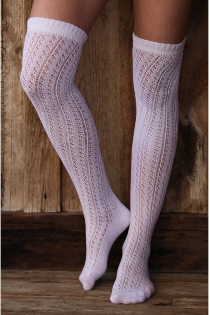 belladonna pointelle tall sock