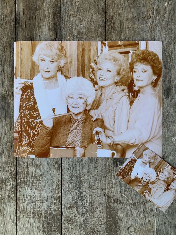Golden Girls Cooking Print -- Available As A Poster Or Postcard!