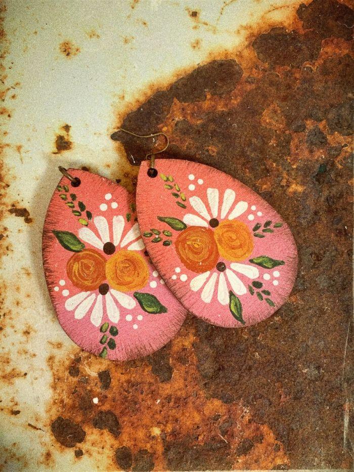 sookie sookie pink groovy baby earrings