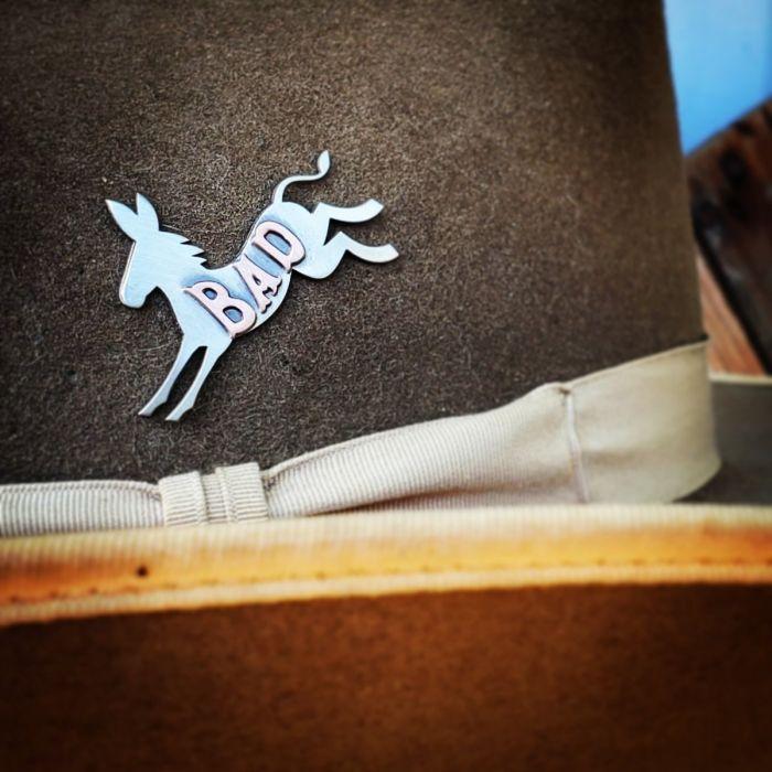 bad ass hat pin