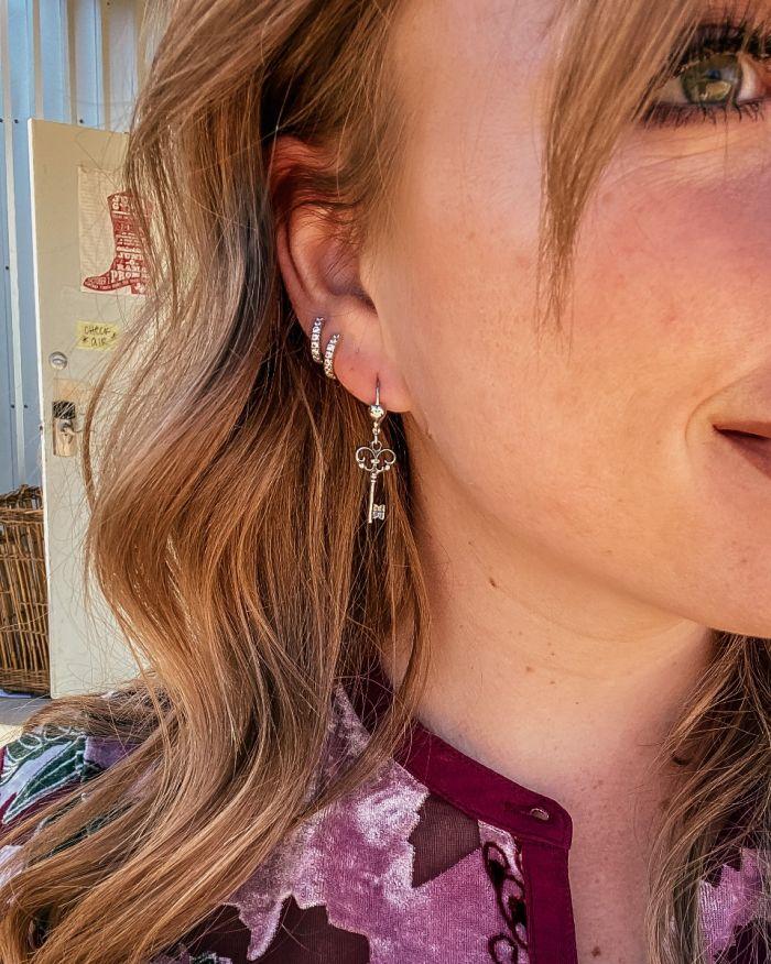 key dangle earrings