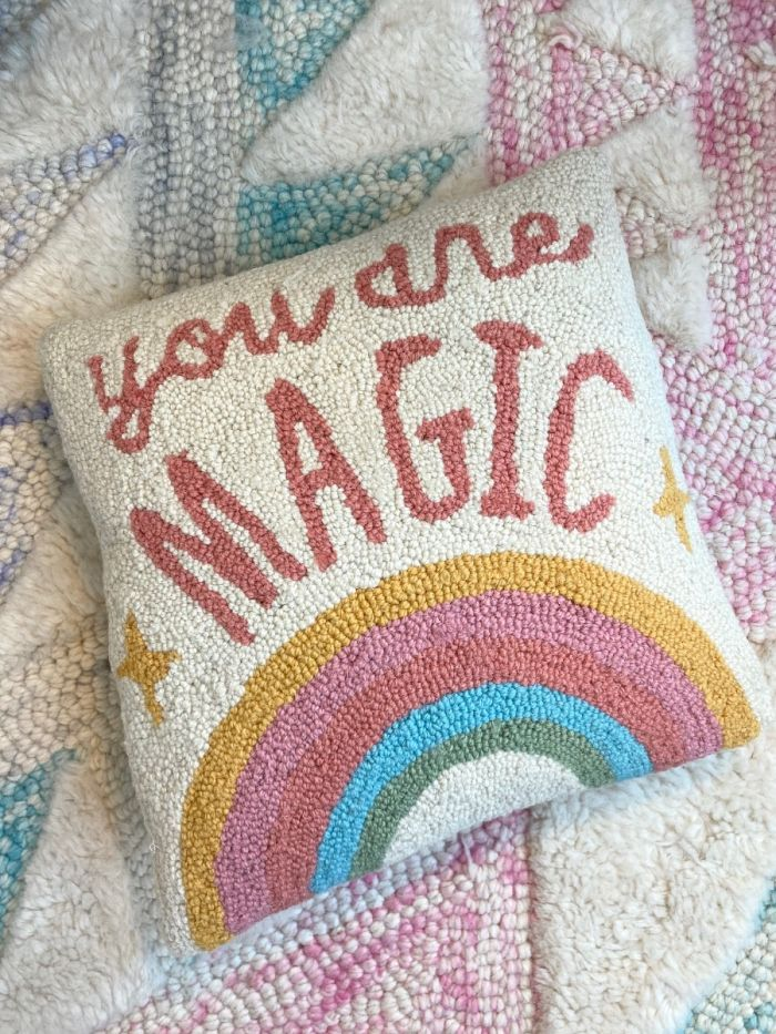 you are magic hooked pillow