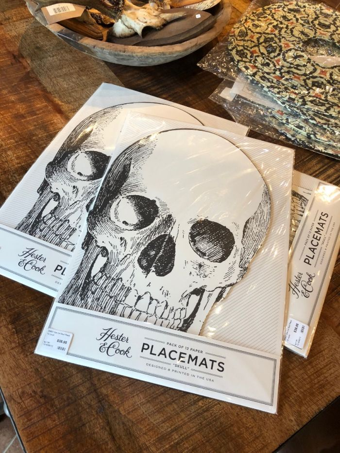 skull placemats