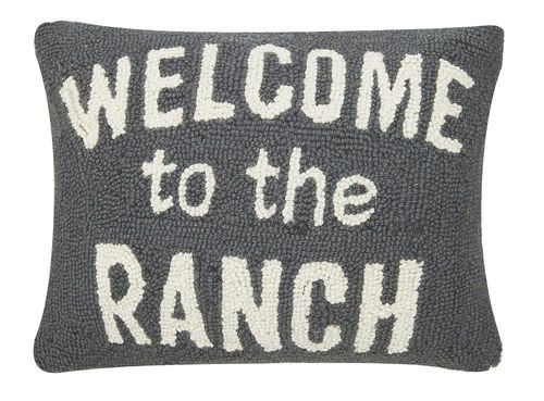 welcome to the ranch hook pillow