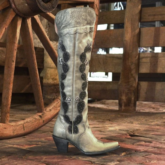 Over The Knee Hard to Handle Boot - Grey