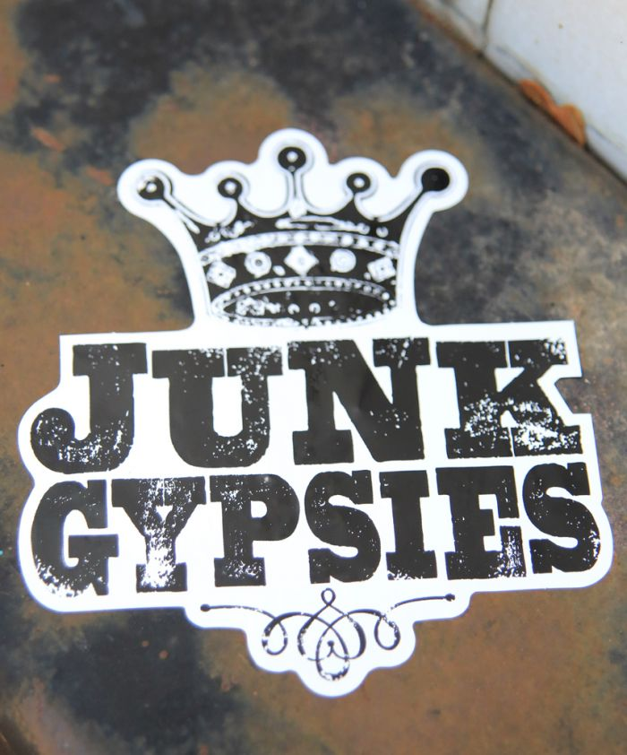 junk gypsies logo sticker