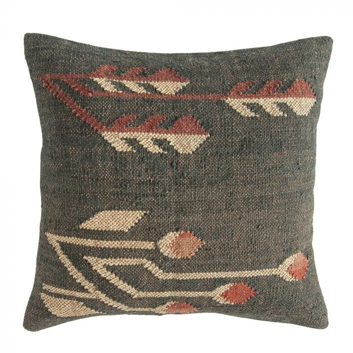 jute & wool kilim pillow