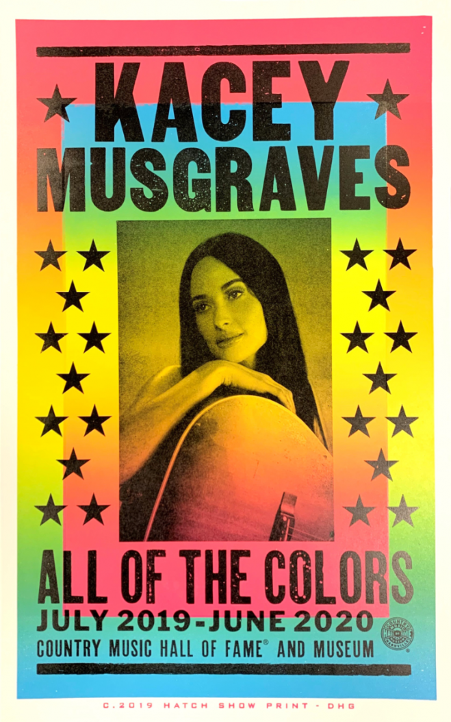 hatch showprint - Kacey Musgraves All of the Colors Exhibit Poster