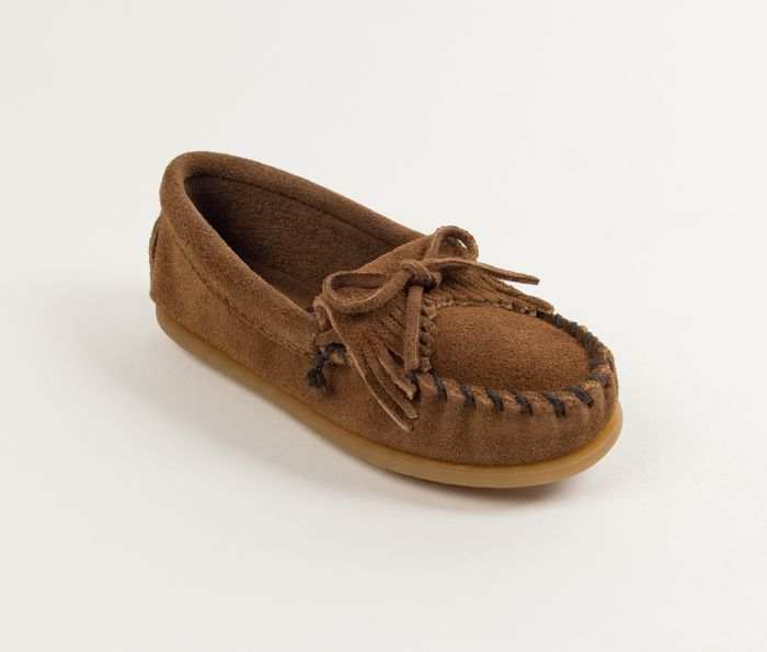 kilty kids mocs - dusty brown