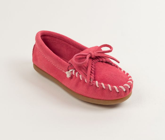 kilty kids mocs - hot pink