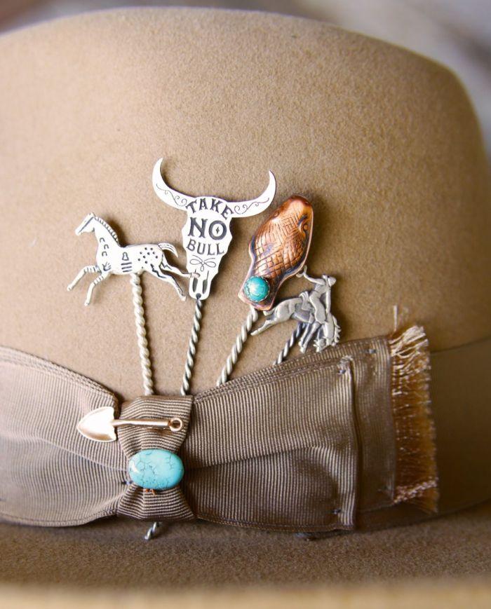 snake & turquoise hat pin