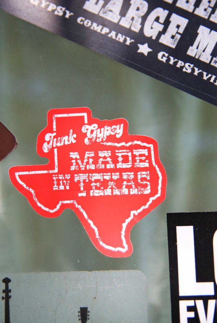 made in texas sticker