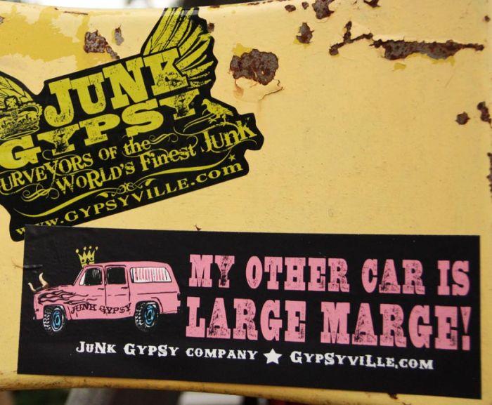 large marge bumper sticker