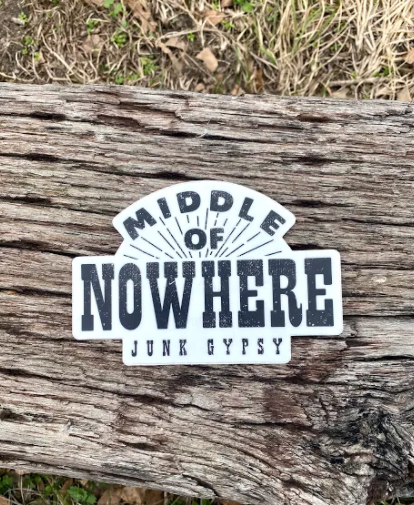 middle of nowhere sticker