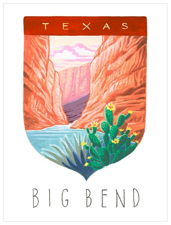 national parks - big bend wall art