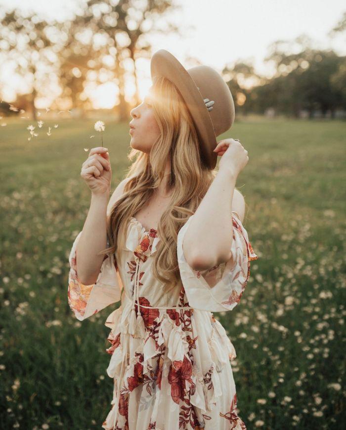 jo dee floral cold shoulder dress