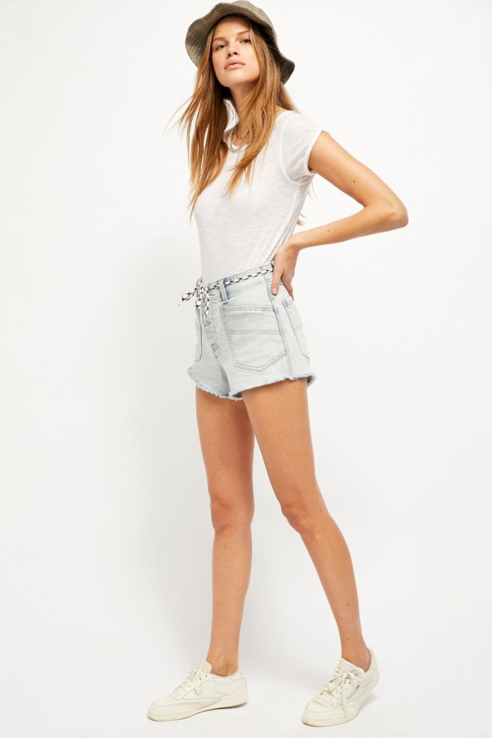 free people - santa cruz denim shorts