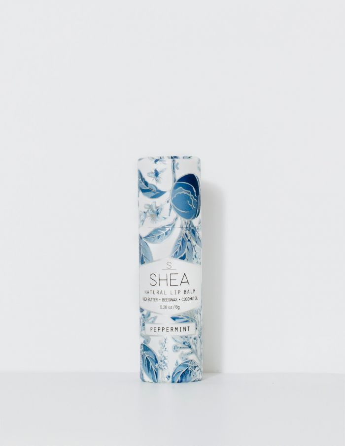 shea brand peppermint natural lip balm
