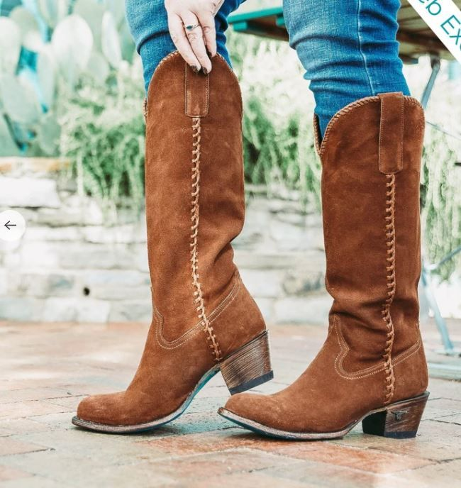 plain jane suede boot - brown
