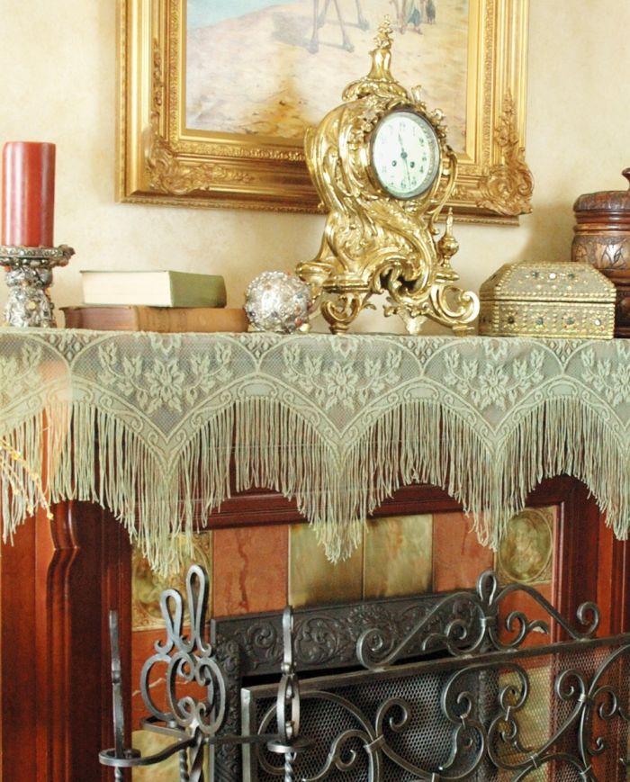 victorian fringe mantle scarf
