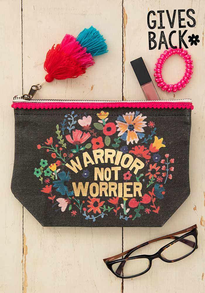 warrior not worrier pouch
