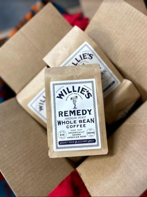 Willie's Remedy Whole-Bean Coffee - Medium Blend 8 OZ